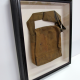 Mounted and framed WWI bag in shadowbox