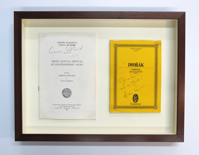 Copeland playbill archival framing